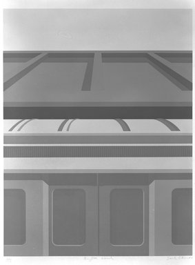 Saul Chase (American, born 1945). <em>Brighton Local</em>, 1980. Serigraph, Image: 20 7/8 x 16 in. (53 x 40.7 cm). Brooklyn Museum, Gift of the artist, 82.196.1. © artist or artist's estate (Photo: Brooklyn Museum, 82.196.1_bw.jpg)
