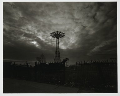 "Stephen Salmieri (American, born 1945). <em>""Coney Island"" [Parachute Jump]</em>, 1971. Gelatin silver photograph, image: 8 x 10 in. (20.3 x 25.4 cm). Brooklyn Museum, Gift of Edward Klein, 82.201.13. © artist or artist's estate (Photo: Brooklyn Museum, 82.201.13_PS2.jpg)"