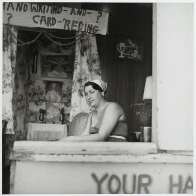 "Stephen Salmieri (American, born 1945). <em>""Coney Island,""</em> 1969. Gelatin silver photograph Brooklyn Museum, Gift of Edward Klein, 82.201.21. © artist or artist's estate (Photo: Brooklyn Museum, 82.201.21_PS2.jpg)"