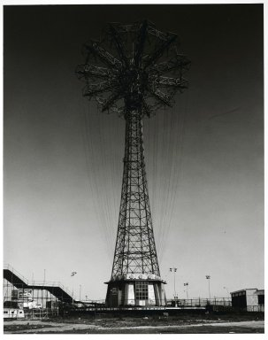 Stephen Salmieri (American, born 1945). <em>Coney Island (Parachute Jump)</em>, 1969. Gelatin silver photograph, Sheet: 14 x 11 in. (35.6 x 27.9 cm). Brooklyn Museum, Gift of Edward Klein, 82.201.24. © artist or artist's estate (Photo: Brooklyn Museum, 82.201.24_PS2.jpg)
