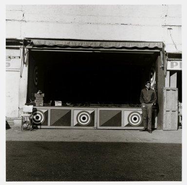 "Stephen Salmieri (American, born 1945). <em>""Coney Island,""</em> 1969. Gelatin silver photograph Brooklyn Museum, Gift of Edward Klein, 82.201.28. © artist or artist's estate (Photo: Brooklyn Museum, 82.201.28_PS1.jpg)"