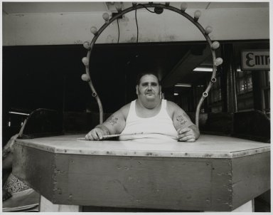 "Stephen Salmieri (American, born 1945). <em>""Coney Island,""</em> 1969. Gelatin silver photograph Brooklyn Museum, Gift of Edward Klein, 82.201.3. © artist or artist's estate (Photo: Brooklyn Museum, 82.201.3_PS2.jpg)"