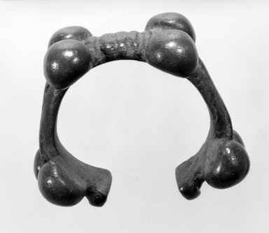 Possibly Bwa. <em>Bracelet</em>, late 19th-early 20th century. Copper alloy, diam.: 2 3/4 in. (7.0 cm). Brooklyn Museum, Gift of Mr. and Mrs. Arnold Syrop, 82.215.12. Creative Commons-BY (Photo: Brooklyn Museum, 82.215.12_bw.jpg)