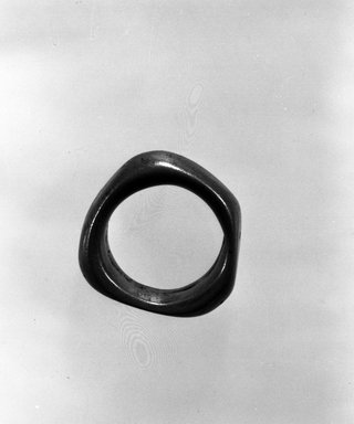 Bwa (?). <em>Ring</em>, late 19th-early 20th century. Copper alloy, 1 3/8 x 1 3/8 in. (3.5 x 3.5 cm). Brooklyn Museum, Gift of Mr. and Mrs. Arnold Syrop, 82.215.13. Creative Commons-BY (Photo: Brooklyn Museum, 82.215.13_bw.jpg)