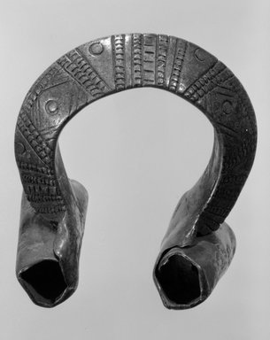 Maker Unknown. <em>Bracelet</em>, 19th or 20th century. Copper alloy, diam: 4 1/2 in. (11.5 cm). Brooklyn Museum, Gift of Mr. and Mrs. Arnold Syrop, 82.215.14. Creative Commons-BY (Photo: Brooklyn Museum, 82.215.14_bw.jpg)
