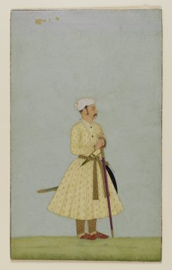 Indian. <em>Portrait of Rao Chattar Sal of Bundi</em>, ca. 1675. Opaque watercolor and gold on paper, sheet: 7 5/16 x 4 11/16 in.  (18.6 x 11.9 cm). Brooklyn Museum, Gift of Amy and Robert L. Poster, 82.227.1 (Photo: Brooklyn Museum, 82.227.1_PS4.jpg)