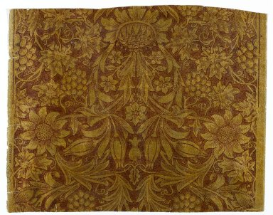 William Morris (English, 1834-1896). <em>Wallpaper, Sunflower pattern</em>, designed ca. 1879, printed later. Paper, 22 1/2 x 17 3/4 in. (57.2 x 45.1 cm). Brooklyn Museum, Gift of Arlene M. and Thomas C. Ellis, 82.239.29 (Photo: Brooklyn Museum, 82.239.29_PS1.jpg)