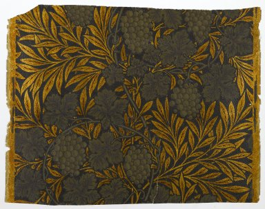Morris & Company (1875-1940). <em>Wallpaper, Vine pattern</em>, 1874. Paper, 17 3/4 x 22 3/4 in. (45.1 x 57.8 cm). Brooklyn Museum, Gift of Arlene M. and Thomas C. Ellis, 82.239.30 (Photo: Brooklyn Museum, 82.239.30_PS1.jpg)