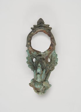 <em>Hook with Loop</em>, 11th-13th century. Decorated bronze, hook with loop approx.: 4 5/8 x 2 in. (11.7 x 5.1 cm). Brooklyn Museum, Gift of Dr. and Mrs. Malcolm Idelson, 82.240.2a. Creative Commons-BY (Photo: Brooklyn Museum, 82.240.2a_top_edited_PS11.jpg)