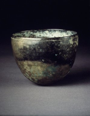 <em>Cup</em>, 13th-14th century. Bronze, Height: 2 1/4 in. (5.7 cm). Brooklyn Museum, Gift of F. Karel Wiest, 82.26. Creative Commons-BY (Photo: Brooklyn Museum, 82.26.jpg)