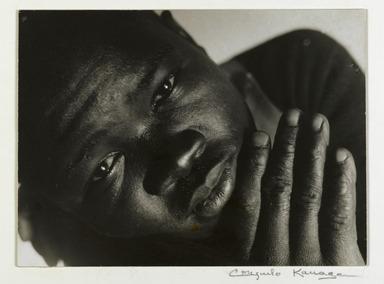 Consuelo Kanaga (American, 1894-1978). <em>Eluard Luchel McDaniel</em>, 1931. Gelatin silver photograph, 5 3/4 x 7 7/8 in. (14.6 x 20 cm). Brooklyn Museum, Gift of Wallace B. Putnam from the Estate of Consuelo Kanaga, 82.65.12 (Photo: Brooklyn Museum, 82.65.12_PS2.jpg)