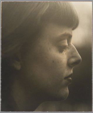Consuelo Kanaga (American, 1894-1978). <em>[Untitled] (March Avery)</em>. Gelatin silver photograph, 10 7/8 x 9 1/8 in. (27.6 x 23.2 cm). Brooklyn Museum, Gift of Wallace B. Putnam from the Estate of Consuelo Kanaga, 82.65.130 (Photo: Brooklyn Museum, 82.65.130_PS2.jpg)