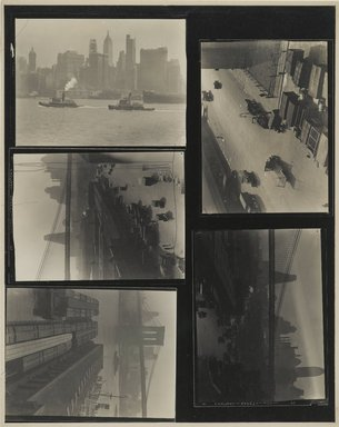 Consuelo Kanaga (American, 1894-1978). <em>[Untitled] (West Street with Trucks)</em>, 1922-1924. Gelatin silver photograph, Contact sheet: 8 x 10 in. (20.3 x 25.4 cm). Brooklyn Museum, Gift of Wallace B. Putnam from the Estate of Consuelo Kanaga, 82.65.143 (Photo: Brooklyn Museum, 82.65.143_PS2.jpg)