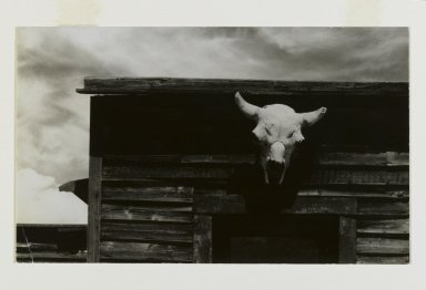 Consuelo Kanaga (American, 1894-1978). <em>Ghost Town, New Mexico</em>, 1950s. Gelatin silver photograph, Image: 4 1/4 x 7 1/8 in. (10.8 x 18.1 cm). Brooklyn Museum, Gift of Wallace B. Putnam from the Estate of Consuelo Kanaga, 82.65.145 (Photo: Brooklyn Museum, 82.65.145_PS2.jpg)