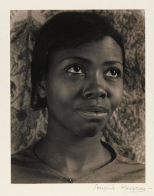 Consuelo Kanaga (American, 1894-1978). <em>[Untitled] (Annie Mae Merriweather III)</em>. Gelatin silver photograph, Image: 9 3/4 x 7 5/8 in. (24.8 x 19.4 cm). Brooklyn Museum, Gift of Wallace B. Putnam from the Estate of Consuelo Kanaga, 82.65.14 (Photo: Brooklyn Museum, 82.65.14_PS2.jpg)