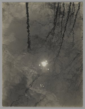 Consuelo Kanaga (American, 1894-1978). <em>[Untitled] (Putnam Pond)</em>. Gelatin silver photograph, 4 3/4 x 3 3/4 in. (12.1 x 9.5 cm). Brooklyn Museum, Gift of Wallace B. Putnam from the Estate of Consuelo Kanaga, 82.65.157 (Photo: Brooklyn Museum, 82.65.157_PS2.jpg)