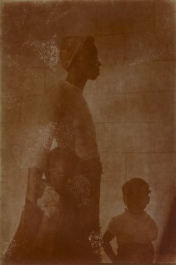 Consuelo Kanaga (American, 1894-1978). <em>[Untitled] (Southern Woman with Children)</em>. Gelatin silver photograph, 4 x 2 5/8 in. (10.2 x 6.7 cm). Brooklyn Museum, Gift of Wallace B. Putnam from the Estate of Consuelo Kanaga, 82.65.169 (Photo: Brooklyn Museum, 82.65.169_PS2.jpg)