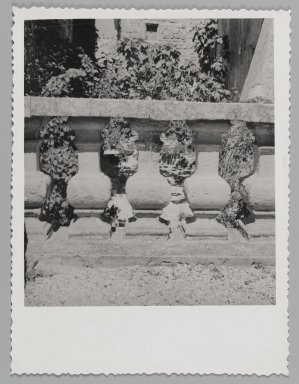 Consuelo Kanaga (American, 1894-1978). <em>[Untitled] (Balustrade)</em>. Gelatin silver photograph, 4 5/8 x 3 3/8 in. (11.7 x 8.6 cm). Brooklyn Museum, Gift of Wallace B. Putnam from the Estate of Consuelo Kanaga, 82.65.172 (Photo: Brooklyn Museum, 82.65.172_PS2.jpg)