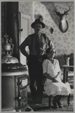 Consuelo Kanaga (American, 1894-1978). <em>[Untitled] (Husband and Wife)</em>. Gelatin silver photograph, 6 x 4 in. (15.2 x 10.2 cm). Brooklyn Museum, Gift of Wallace B. Putnam from the Estate of Consuelo Kanaga, 82.65.174 (Photo: Brooklyn Museum, 82.65.174_PS2.jpg)