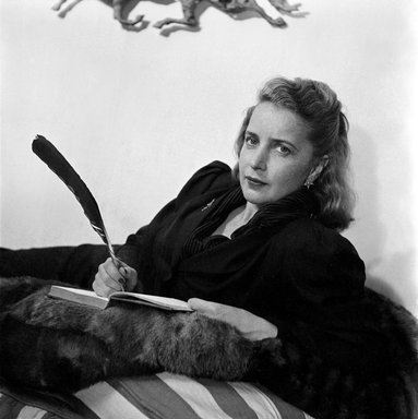 Consuelo Kanaga (American, 1894-1978). <em>Margaret Wise Brown</em>. Cellulose acetate negative, 2 1/2 x 2 3/8 in. (6.4 x 6 cm). Brooklyn Museum, Gift of Wallace B. Putnam from the Estate of Consuelo Kanaga, 82.65.1838 (Photo: Brooklyn Museum, 82.65.1838_bw_SL3.jpg)