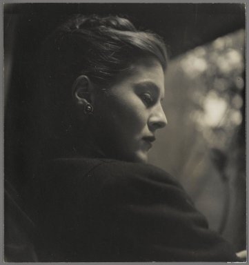 Consuelo Kanaga (American, 1894-1978). <em>[Untitled] (Profile of a Young Woman)</em>. Gelatin silver photograph, 8 1/4 x 7 11/16 in. (21 x 19.5 cm). Brooklyn Museum, Gift of Wallace B. Putnam from the Estate of Consuelo Kanaga, 82.65.18 (Photo: Brooklyn Museum, 82.65.18_PS2.jpg)