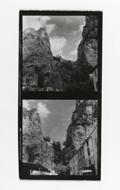 Consuelo Kanaga (American, 1894-1978). <em>[Untitled] (Mountain Landscapes)</em>. Gelatin silver photograph, Contact sheet: 5 x 2 1/2 in. (12.7 x 6.4 cm). Brooklyn Museum, Gift of Wallace B. Putnam from the Estate of Consuelo Kanaga, 82.65.194 (Photo: Brooklyn Museum, 82.65.194_PS2.jpg)