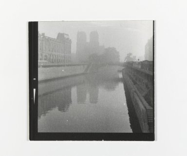 Consuelo Kanaga (American, 1894-1978). <em>[Untitled] (Paris)</em>. Gelatin silver photograph, Contact print, 1 exposure: 2 1/8 x 2 1/4 in. (5.4 x 5.7 cm). Brooklyn Museum, Gift of Wallace B. Putnam from the Estate of Consuelo Kanaga, 82.65.200 (Photo: Brooklyn Museum, 82.65.200_PS2.jpg)
