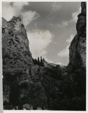 Consuelo Kanaga (American, 1894-1978). <em>[Untitled] (Landscape)</em>, 1967. Gelatin silver photograph, 5 3/8 x 4 3/8 in. (13.7 x 11.1 cm). Brooklyn Museum, Gift of Wallace B. Putnam from the Estate of Consuelo Kanaga, 82.65.204 (Photo: Brooklyn Museum, 82.65.204_PS2.jpg)