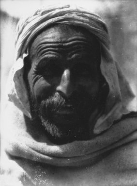 Consuelo Kanaga (American, 1894-1978). <em>[Untitled] (Arab, North Africa)</em>, 1928. Negative, print: 4 3/4 x 4 in. (12.1 x 10.2 cm). Brooklyn Museum, Gift of Wallace B. Putnam from the Estate of Consuelo Kanaga, 82.65.2130 (Photo: Brooklyn Museum, 82.65.2130_bw_IMLS.jpg)