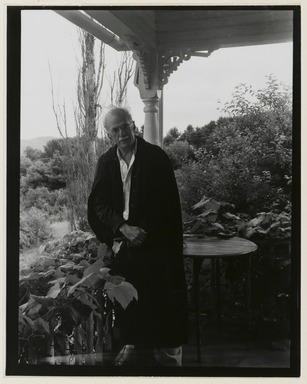Consuelo Kanaga (American, 1894-1978). <em>Stieglitz at Lake George</em>, 1936. Gelatin silver photograph, Image and Sheet: 5 x 4 in.  (12.7 x 10.2 cm). Brooklyn Museum, Gift of Wallace B. Putnam from the Estate of Consuelo Kanaga, 82.65.213 (Photo: Brooklyn Museum, 82.65.213_PS2_edited.jpg)