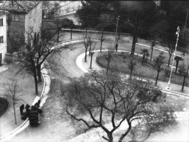 Consuelo Kanaga (American, 1894-1978). <em>[Untitled] (Winding Road in Park)</em>, 1927. Negative, negative: 4 x 3 1/8 in. (10.2 x 7.9 cm). Brooklyn Museum, Gift of Wallace B. Putnam from the Estate of Consuelo Kanaga, 82.65.2144 (Photo: Brooklyn Museum, 82.65.2144_bw_IMLS.jpg)