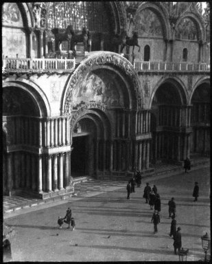 Consuelo Kanaga (American, 1894-1978). <em>[Untitled] (Piazza San Marco, Venice)</em>, 1927. Negative, Negative: 3 3/8 x 4 1/4 in. (8.6 x 10.8 cm). Brooklyn Museum, Gift of Wallace B. Putnam from the Estate of Consuelo Kanaga, 82.65.2146 (Photo: Brooklyn Museum, 82.65.2146_bw_IMLS.jpg)