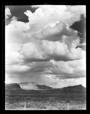 Consuelo Kanaga (American, 1894-1978). <em>Clouds and Mesa</em>. Negative, Negative: 3 7/8 x 4 7/8 in. (9.8 x 12.4 cm). Brooklyn Museum, Gift of Wallace B. Putnam from the Estate of Consuelo Kanaga, 82.65.2160 (Photo: Brooklyn Museum, 82.65.2160_bw_SL5.jpg)
