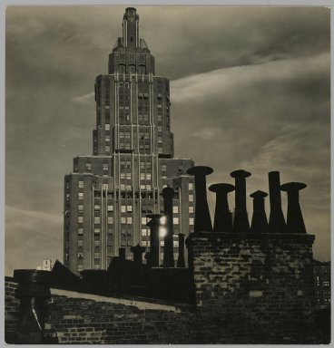 Consuelo Kanaga (American, 1894-1978). <em>[Untitled] (8th Street Rooftop)</em>. Gelatin silver photograph, 6 1/8 x 5 7/8 in. (15.6 x 14.9 cm). Brooklyn Museum, Gift of Wallace B. Putnam from the Estate of Consuelo Kanaga, 82.65.222 (Photo: Brooklyn Museum, 82.65.222_PS2.jpg)