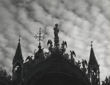 Consuelo Kanaga (American, 1894-1978). <em>[Untitled] (San Marco, Venice)</em>, 1927. Gelatin silver photograph, Image: 6 3/8 x 8 1/4 in. (16.2 x 21 cm). Brooklyn Museum, Gift of Wallace B. Putnam from the Estate of Consuelo Kanaga, 82.65.2237 (Photo: Brooklyn Museum, 82.65.2237_PS2.jpg)