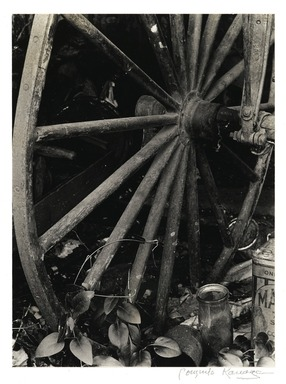 Consuelo Kanaga (American, 1894-1978). <em>[Untitled] (Wagon Wheel)</em>. Gelatin silver photograph, 9 1/2 x 7 in. (24.1 x 17.8 cm). Brooklyn Museum, Gift of Wallace B. Putnam from the Estate of Consuelo Kanaga, 82.65.2240 (Photo: Brooklyn Museum, 82.65.2240_PS2.jpg)