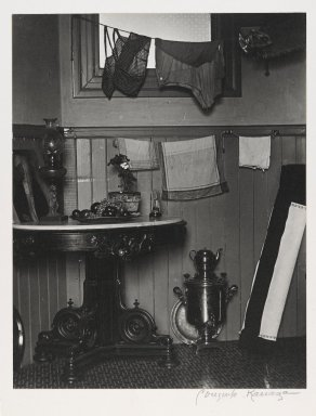 Consuelo Kanaga (American, 1894-1978). <em>San Francisco Kitchen</em>, 1930. Gelatin silver photograph, 9 3/4 x 7 5/8 in. (24.8 x 19.4 cm). Brooklyn Museum, Gift of Wallace B. Putnam from the Estate of Consuelo Kanaga, 82.65.2242 (Photo: Brooklyn Museum, 82.65.2242_PS2.jpg)