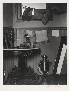Consuelo Kanaga (American, 1894-1978). <em>San Francisco Kitchen</em>, 1930. Gelatin silver photograph, 9 3/4 x 7 5/8 in. (24.8 x 19.4 cm). Brooklyn Museum, Gift of Wallace B. Putnam from the Estate of Consuelo Kanaga, 82.65.2242 (Photo: Brooklyn Museum, 82.65.2242_PS2.jpg)