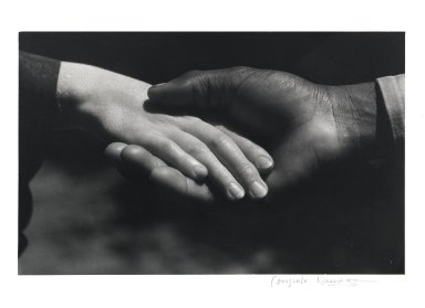 Consuelo Kanaga (American, 1894-1978). <em>Hands</em>, 1930. Gelatin silver photograph, 7 1/2 x 12 in. (19.1 x 30.5 cm). Brooklyn Museum, Gift of Wallace B. Putnam from the Estate of Consuelo Kanaga, 82.65.2248 (Photo: Brooklyn Museum, 82.65.2248_PS1.jpg)
