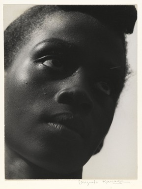 Consuelo Kanaga (American, 1894-1978). <em>Young Girl, Tennessee</em>, 1948. Toned gelatin silver photograph, 9 5/8 x 7 3/8 in. (24.4 x 18.7 cm). Brooklyn Museum, Gift of Wallace B. Putnam from the Estate of Consuelo Kanaga, 82.65.2249 (Photo: Brooklyn Museum, 82.65.2249_PS2.jpg)