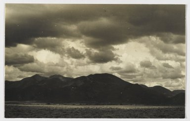 Consuelo Kanaga (American, 1894-1978). <em>[Untitled] (Landscape Near Taos, New Mexico)</em>. Gelatin silver photograph, 4 1/2 x 7 1/8 in. (11.4 x 18.1 cm). Brooklyn Museum, Gift of Wallace B. Putnam from the Estate of Consuelo Kanaga, 82.65.225 (Photo: Brooklyn Museum, 82.65.225_PS2.jpg)