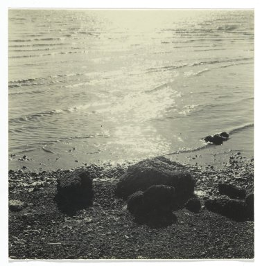 Consuelo Kanaga (American, 1894-1978). <em>[Untitled] (Seascape)</em>. Gelatin silver photograph, 3 1/2 x 3 1/2 in. (8.9 x 8.9 cm). Brooklyn Museum, Gift of Wallace B. Putnam from the Estate of Consuelo Kanaga, 82.65.248 (Photo: Brooklyn Museum, 82.65.248_PS2.jpg)