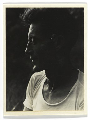 Consuelo Kanaga (American, 1894-1978). <em>[Untitled] (Harvey Zook)</em>. Gelatin silver photograph, image: 3 1/2 x 3 in. (8.9 x 7.6 cm). Brooklyn Museum, Gift of Wallace B. Putnam from the Estate of Consuelo Kanaga, 82.65.252 (Photo: Brooklyn Museum, 82.65.252_PS2.jpg)