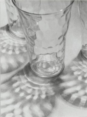 Consuelo Kanaga (American, 1894-1978). <em>[Untitled] (Glasses and Reflections)</em>. Gelatin silver photograph, 4 3/4 x 3 5/8 in. (12.1 x 9.2 cm). Brooklyn Museum, Gift of Wallace B. Putnam from the Estate of Consuelo Kanaga, 82.65.25 (Photo: Brooklyn Museum, 82.65.25_PS2.jpg)
