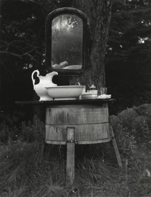 Consuelo Kanaga (American, 1894-1978). <em>[Untitled] (Brown Backyard, Maine)</em>. Gelatin silver photograph, 4 3/4 x 3 3/4 in. (12.1 x 9.5 cm). Brooklyn Museum, Gift of Wallace B. Putnam from the Estate of Consuelo Kanaga, 82.65.284 (Photo: Brooklyn Museum, 82.65.284_PS2.jpg)