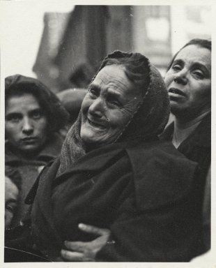 Consuelo Kanaga (American, 1894-1978). <em>[Untitled] (Grieving Woman)</em>. Gelatin silver photograph, 5 x 4 in. (12.7 x 10.2 cm). Brooklyn Museum, Gift of Wallace B. Putnam from the Estate of Consuelo Kanaga, 82.65.286 (Photo: Brooklyn Museum, 82.65.286_PS2.jpg)