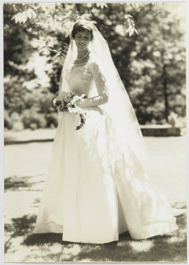 Consuelo Kanaga (American, 1894-1978). <em>[Untitled] (Bride)</em>. Gelatin silver photograph, 10 x 7 1/8 in. (25.4 x 18.1 cm). Brooklyn Museum, Gift of Wallace B. Putnam from the Estate of Consuelo Kanaga, 82.65.293 (Photo: Brooklyn Museum, 82.65.293_PS2.jpg)