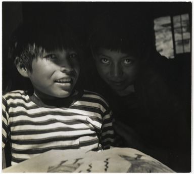 Consuelo Kanaga (American, 1894-1978). <em>[Untitled] (Navajo Boys)</em>, 1950s. Gelatin silver photograph, 7 3/4 x 8 3/4 in. (19.7 x 22.2 cm). Brooklyn Museum, Gift of Wallace B. Putnam from the Estate of Consuelo Kanaga, 82.65.298 (Photo: Brooklyn Museum, 82.65.298_PS2.jpg)