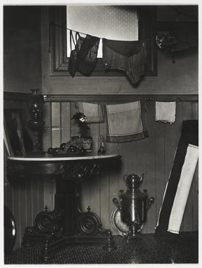 Consuelo Kanaga (American, 1894-1978). <em>San Francisco Kitchen</em>, 1930. Gelatin silver photograph, 9 1/2 x 7 1/8 in. (24.1 x 18.1 cm). Brooklyn Museum, Gift of Wallace B. Putnam from the Estate of Consuelo Kanaga, 82.65.29 (Photo: Brooklyn Museum, 82.65.29_PS2.jpg)