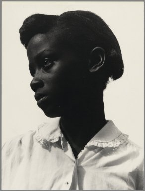 Consuelo Kanaga (American, 1894-1978). <em>[Untitled]  (Young Girl, Tennessee))</em>, late 1940's. Gelatin silver photograph, 8 3/4 x 6 3/4 in. (22.2 x 17.1 cm). Brooklyn Museum, Gift of Wallace B. Putnam from the Estate of Consuelo Kanaga, 82.65.2 (Photo: Brooklyn Museum, 82.65.2_PS2.jpg)